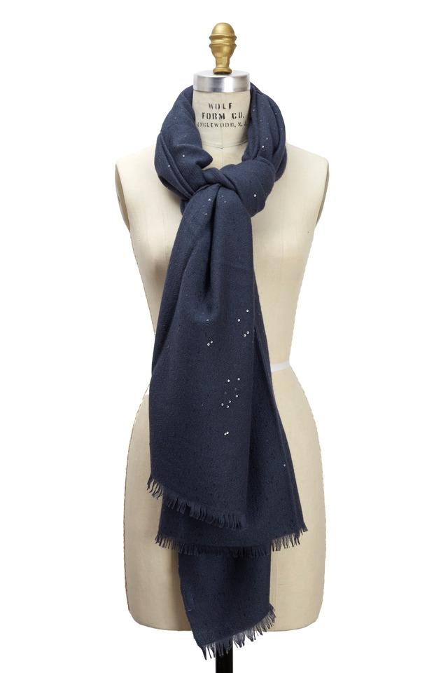 Galaxy Cashmere & Silk Pailette Scarf