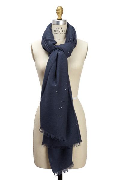Brunello Cucinelli - Galaxy Cashmere & Silk Pailette Scarf
