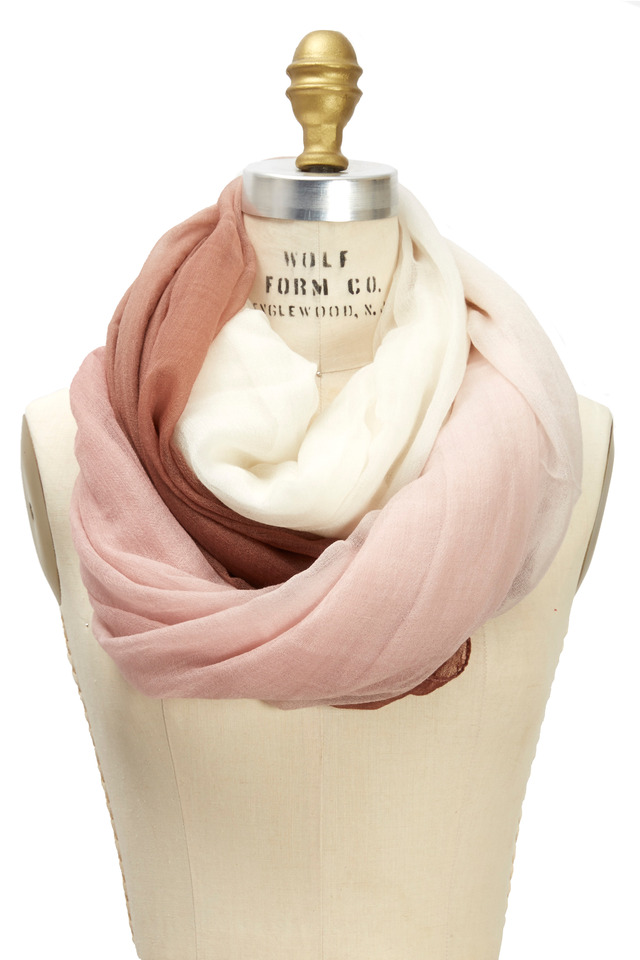 Rouge Boiled Ombre Scarf
