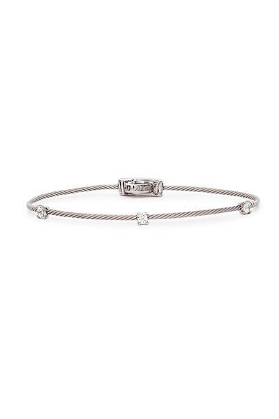 Paul Morelli - 18K White Gold Diamond Wire Bracelet