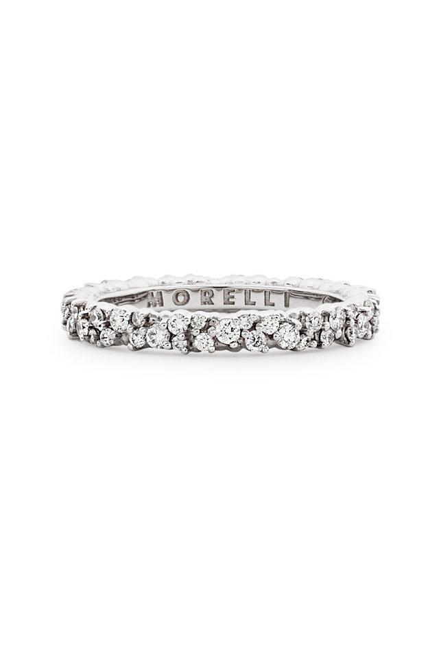 White Confetti Diamond Ring
