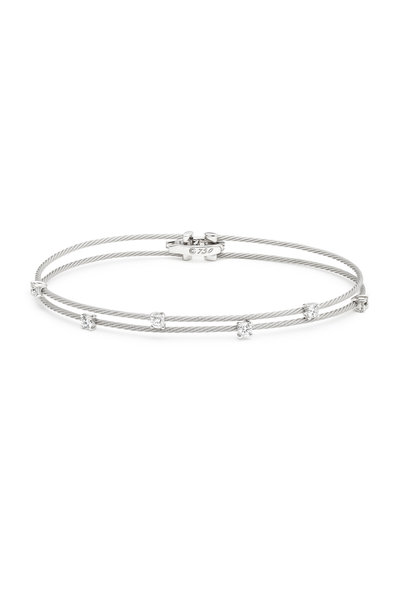 Paul Morelli - White Gold Double Wire Diamond Bracelet