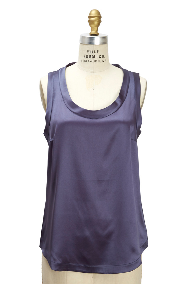 Purple Silk Reversible Tank Top