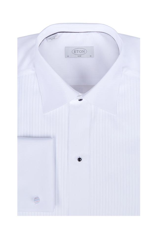 White French Cuff Slim Fit Tuxedo Dress Shirt