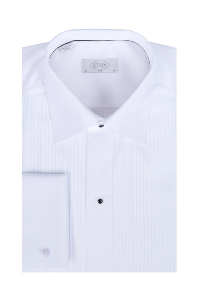 Eton - White French Cuff Slim Fit Tuxedo Dress Shirt