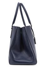 Anya Hindmarch - Ebury Featherweight Navy Blue Leather Large Tote