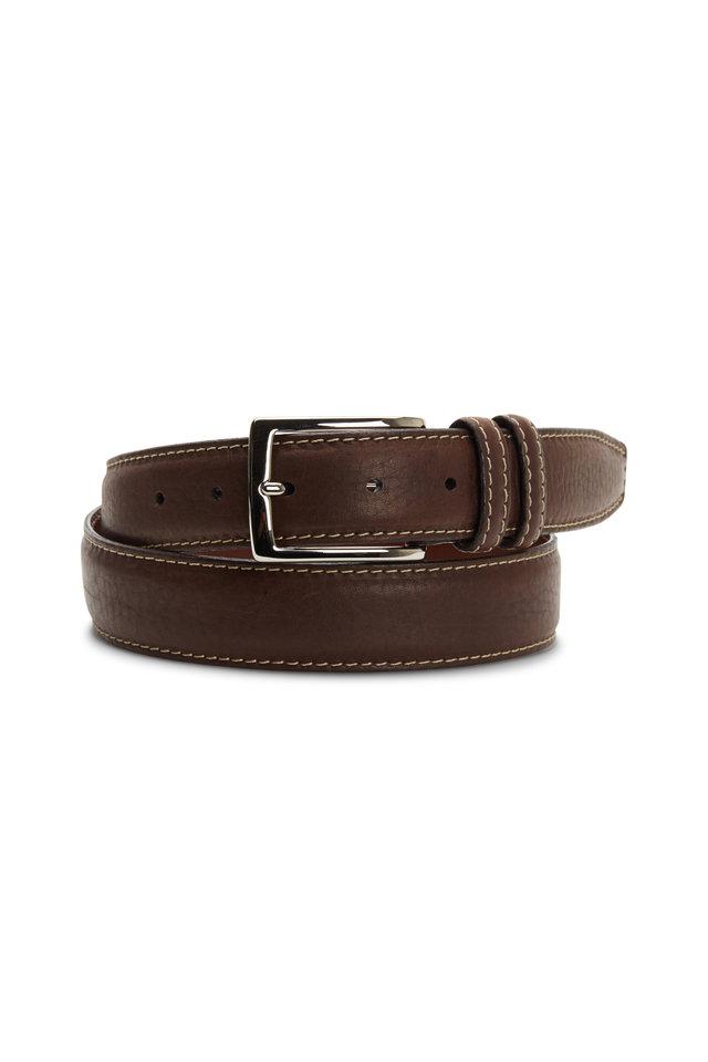 Brown Bison Leather Belt