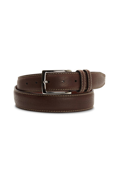 Torino - Brown Bison Leather Belt