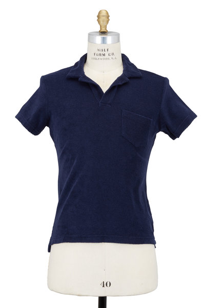 Orlebar Brown - Navy Blue Cotton Terry Polo