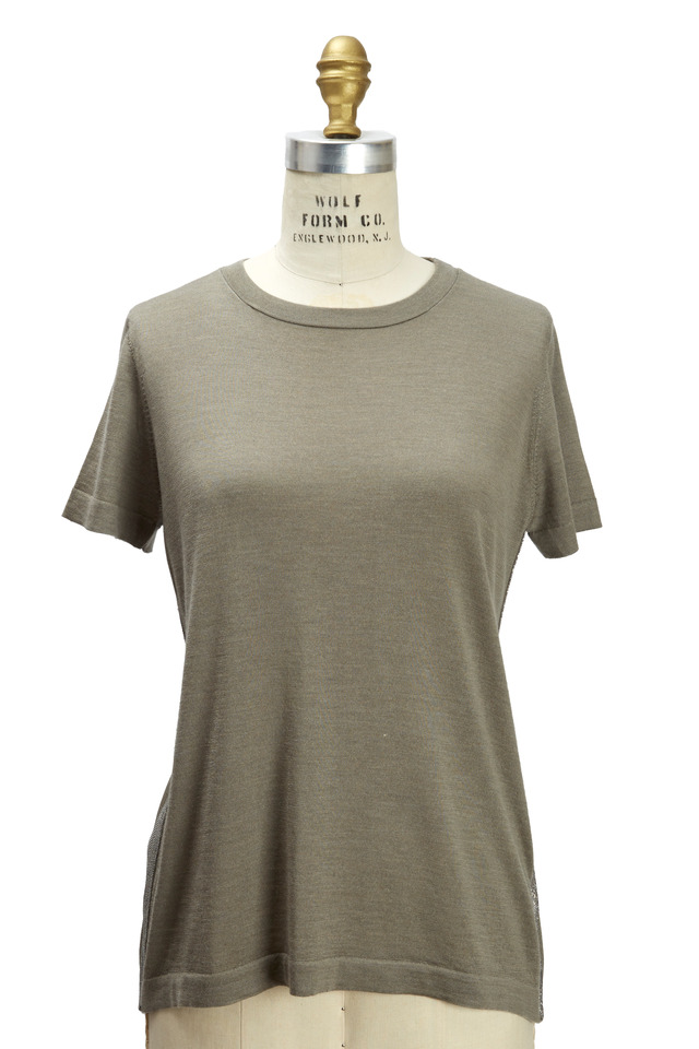 Military Cashmere & Silk Monili Pullover