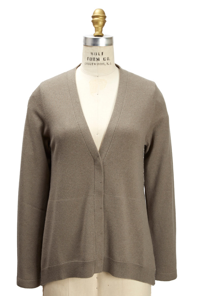 Military Cashmere Cardigan