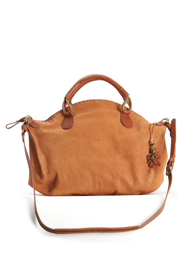 Jessica Rust Leather Satchel
