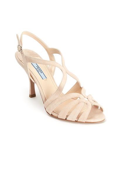 Prada - Nude Suede Strappy Sandals