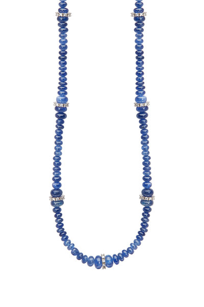 Kathleen Dughi - 18K White Gold Sapphire & Diamond Necklace
