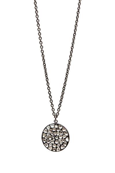 Loriann - Gold & Silver Round Diamond Slice Necklace