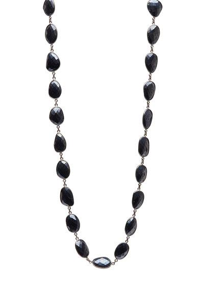 Loriann - Rhodium Silver Mystic Spinel Accessory Chain