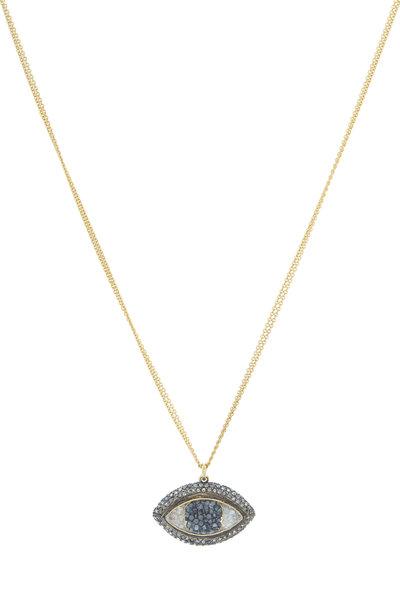 Renee Lewis - Yellow Gold Diamond Third Eye Shake Necklace