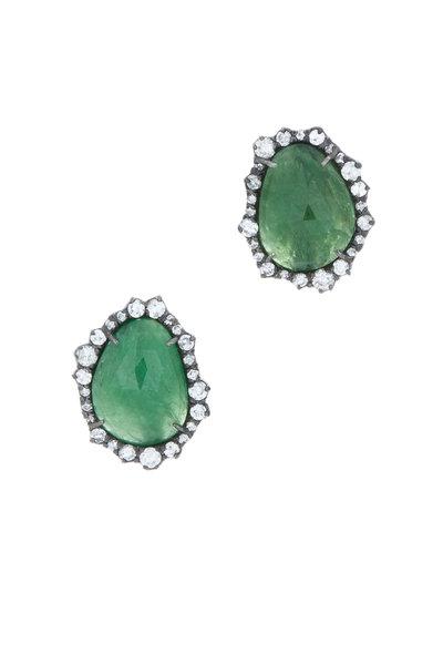 Kimberly McDonald - White Gold Tsavorite Diamond Stud Earrings