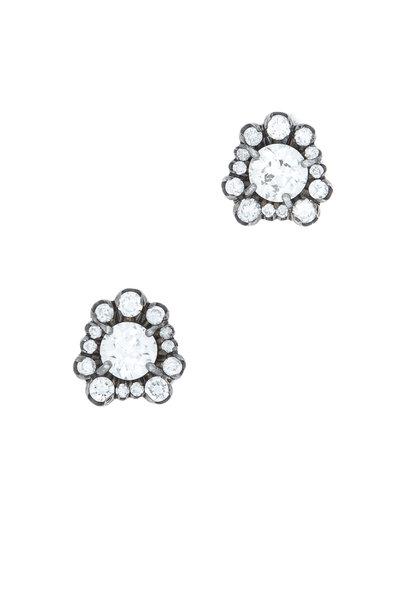 Kimberly McDonald - White Gold Diamond Stud Earrings