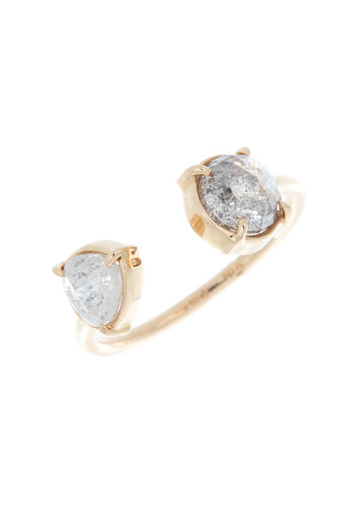 Kimberly McDonald - Rose Gold Diamond Finger Cuff Ring