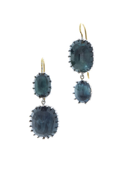 Renee Lewis - Gold Natural Blue Sapphire Earrings