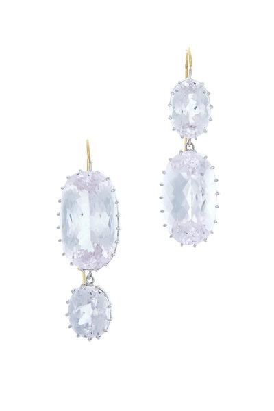 Renee Lewis - White Gold Pale Kunzite Earrings