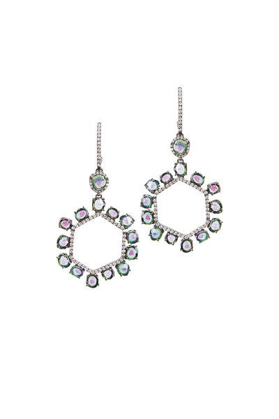 Kimberly McDonald - White Gold Paraiba Tourmaline Diamond Earrings