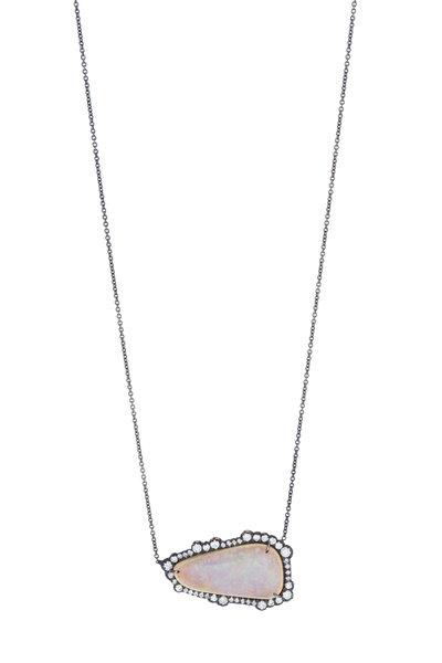 Kimberly McDonald - White Gold Boulder Opal & Diamond Necklace