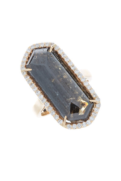 Kimberly McDonald - Rose Gold Black & White Diamond Cocktail Ring