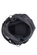 Henry Beguelin - Canotta Dark Gray Leather Zipped Hobo Bag