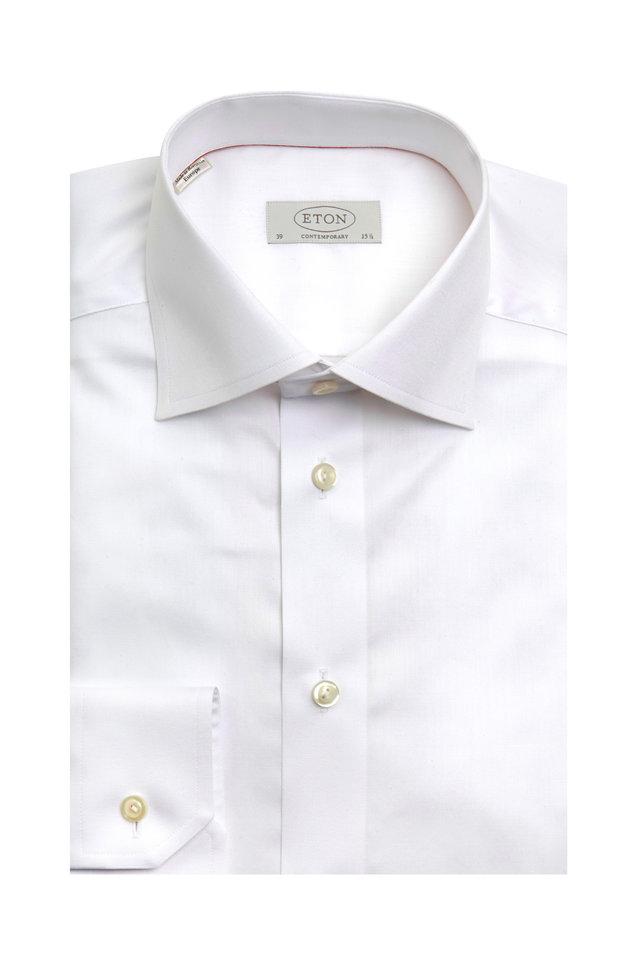White Twill Contemporary Dress Shirt