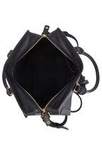 Alexander McQueen - Padlock Black Leather Small Satchel