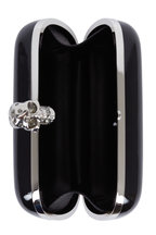 Alexander McQueen - Black Patent Leather Skull Box Clutch