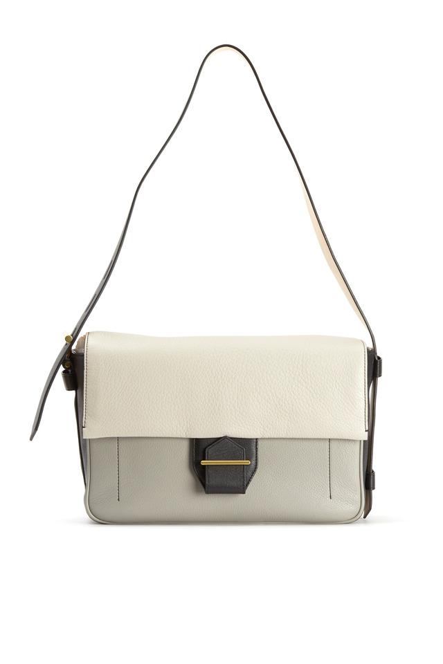 Standard Grey & Black Deerskin Shoulder Bag