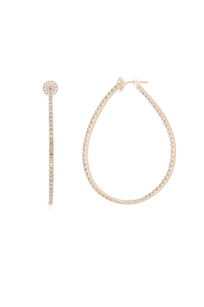 Nam Cho - 18K Pink Gold Champagne Diamond Hoops