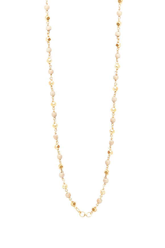 Sylva & Cie 18K Yellow Gold Tursi Bead Necklace