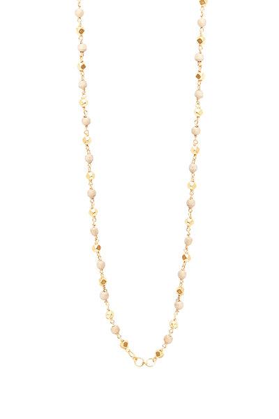 Sylva & Cie - 18K Yellow Gold Tursi Bead Necklace