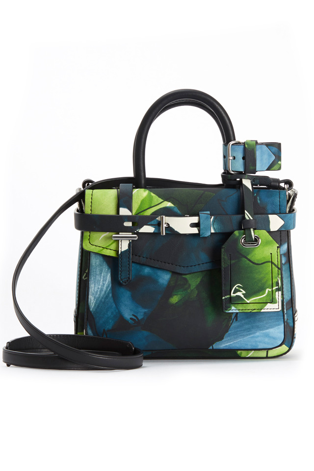 Micro Boxer Floral Leather Tote