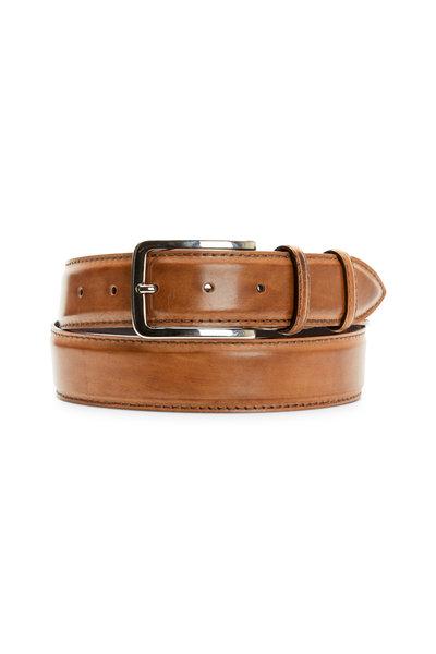Bontoni - Beige Leather Belt