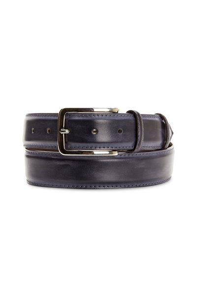 Bontoni - Ocean Blue Leather Belt