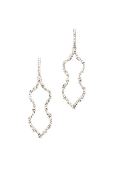 """Kimberly McDonald - """"Femme"""" White Gold Diamond Outline Earrings"""