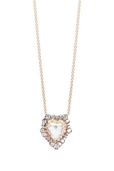 Kimberly McDonald - Rose Gold Diamond Heart Necklace