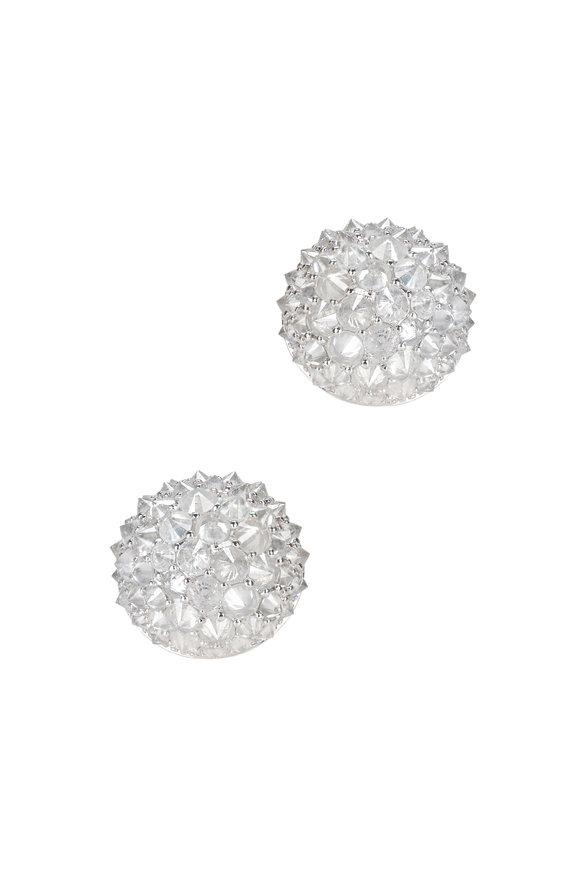 Nam Cho 18K White Gold Ice Diamond Studs