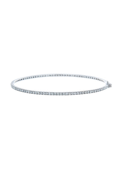 Nam Cho - White Gold Gray & White Diamond Bangle Bracelet