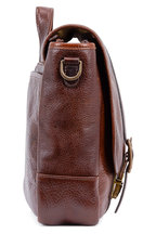 Moore & Giles - Carlton Brown Bison Leather Courier Bag