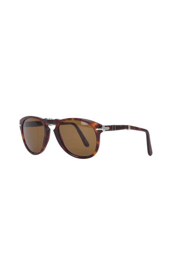 Persol Typewriter Havana Polarized Phantos Sunglasses
