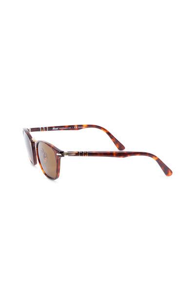 Persol - Typewriter Havana Polarized Phantos Sunglasses