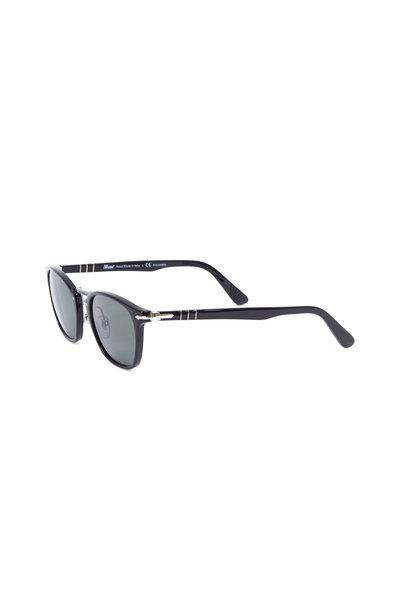 Persol - Typewriter Black Polarized Phantos Sunglasses