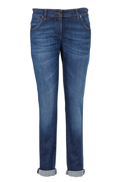 Brunello Cucinelli - True Denim Five-Pocket Rolled Cuff Jeans
