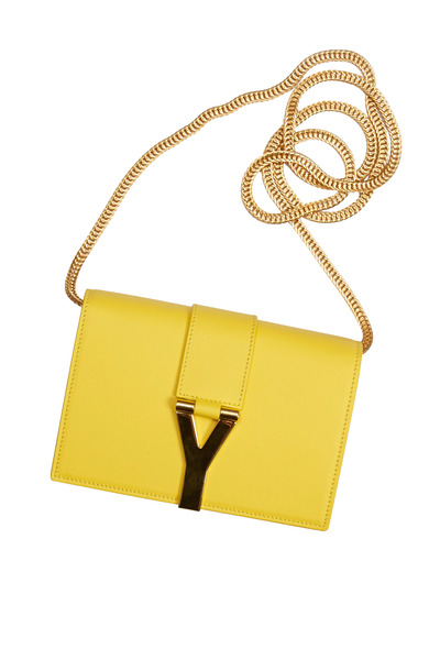Saint Laurent - Soleil Yellow Leather Small Satchel